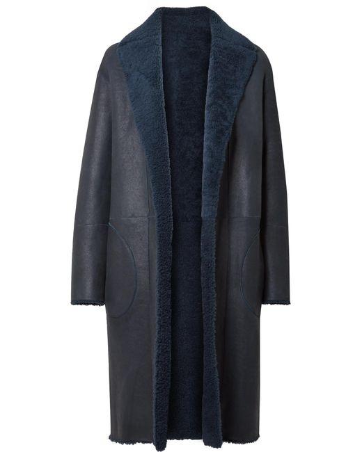 Akris - Blue Trace Reversible Shearling Coat - Lyst