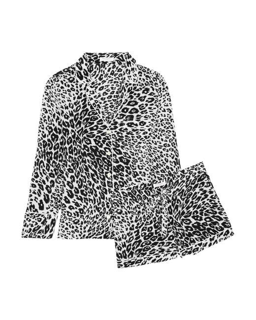Equipment | Black Lillian Leopard-print Washed-silk Pajama Set | Lyst