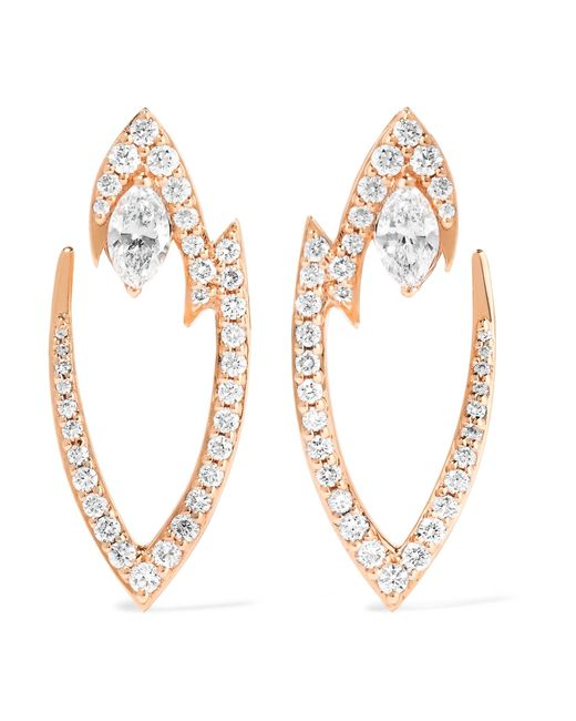 Stephen Webster | Metallic Lady Stardust 18-karat Rose Gold Diamond Earrings | Lyst