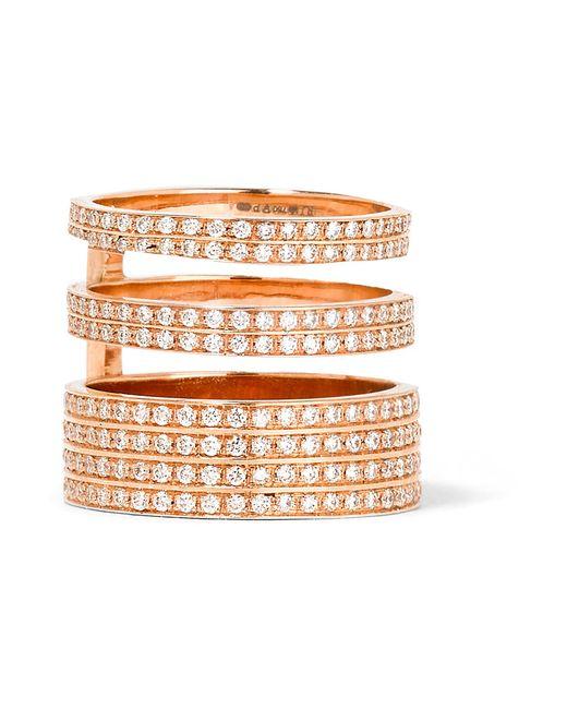 Repossi - Multicolor Berbère Module 18-karat Rose Gold Diamond Ring - Lyst