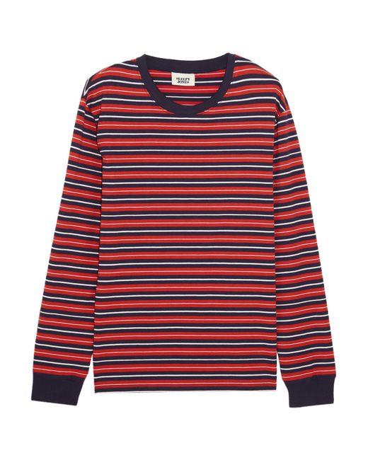 Sleepy Jones | Red Stevie Striped Cotton Pajama Top | Lyst