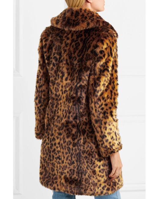 7e875eb722 Lyst - J.Crew Leopard-print Faux Fur Coat in Brown - Save 60%