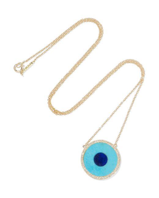 Jennifer Meyer | Blue 18karat Gold Lapis Lazuli and Diamond Necklace | Lyst
