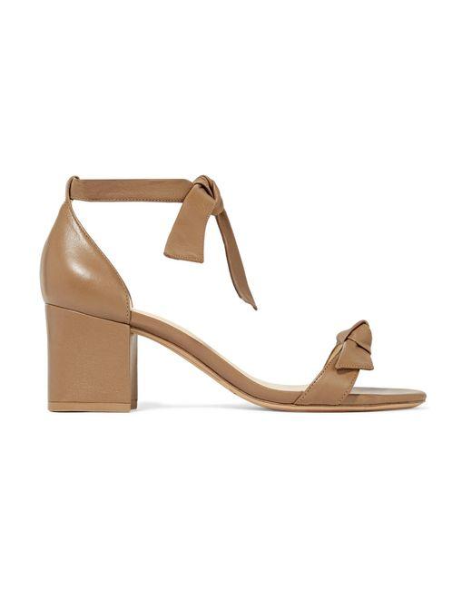 Alexandre Birman   Brown Clarita Bow-embellished Leather Sandals   Lyst