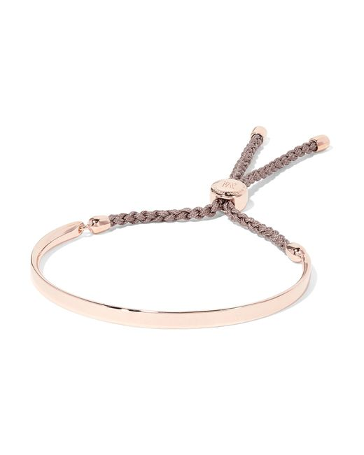 Monica Vinader | Pink Stellar Blue Diamond Mini Bar Bracelet | Lyst