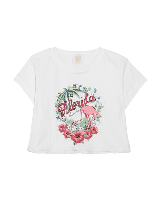 Anna Sui | White Florida Cropped Printed Cotton-jersey T-shirt | Lyst