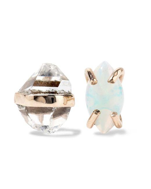 Melissa Joy Manning | Metallic 14-karat Gold, Herkimer Diamond And Opal Earrings | Lyst