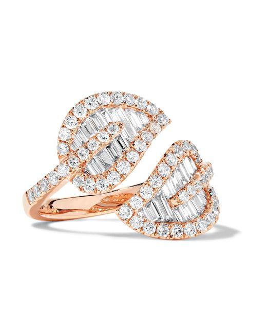Anita Ko   Metallic Leaf 18-karat Rose Gold Diamond Ring   Lyst