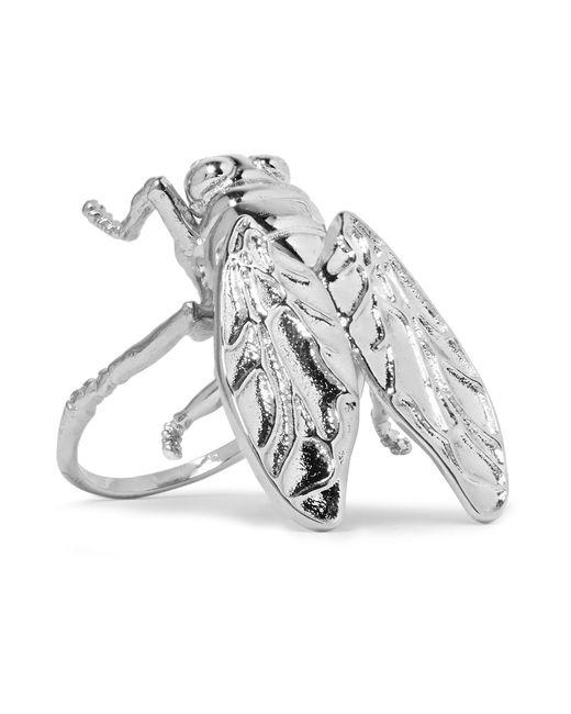 Balenciaga | Metallic Bug Silver-tone Ring | Lyst