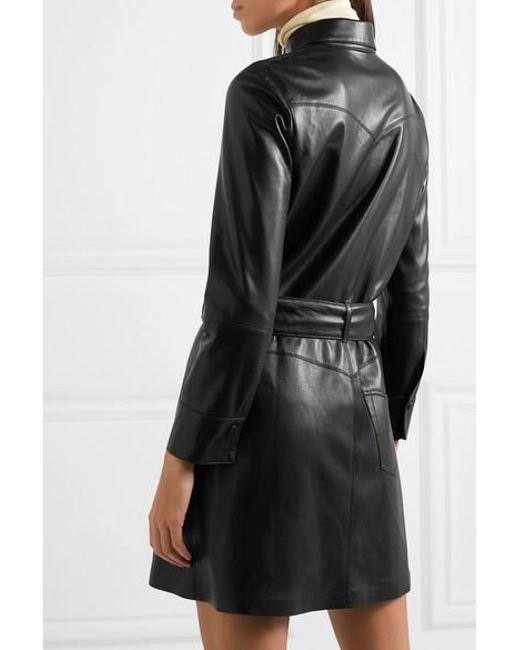 097c3b6f11 ... Nanushka - Black Gisele Belted Vegan Leather Mini Dress - Lyst ...