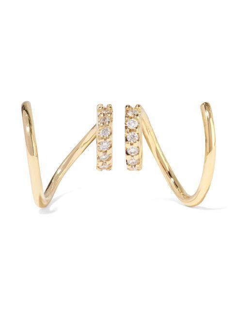 Maria Black | Metallic Lila Twirl 18-karat Gold Diamond Earrings | Lyst