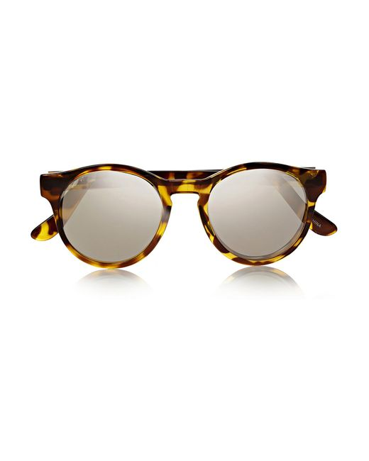 Le Specs | Brown Hey Macarena Round-frame Acetate Sunglasses | Lyst