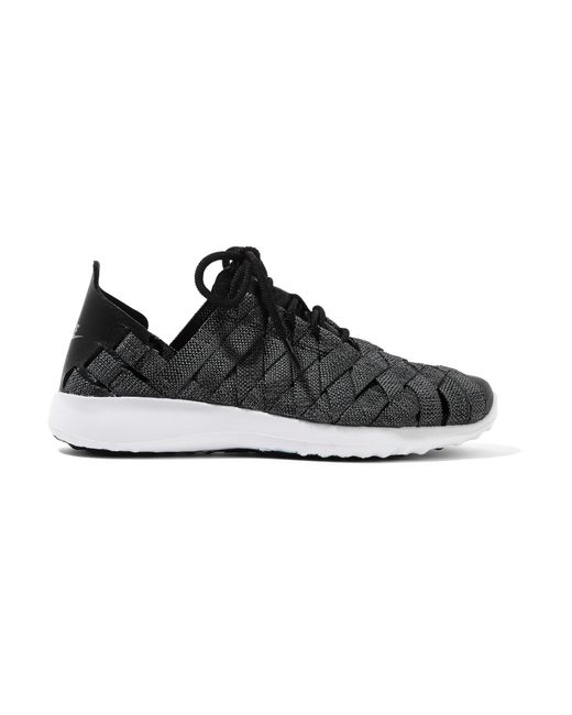 Nike | Gray Juvenate Premium Faux Textured Leather-trimmed Woven Sneakers | Lyst
