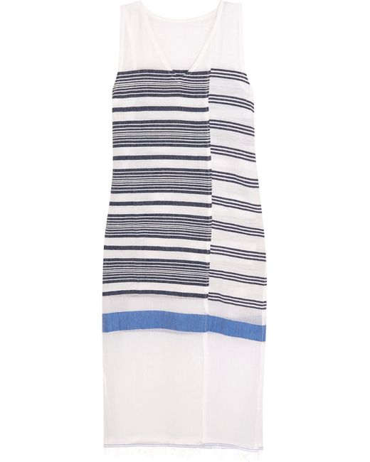 Lemlem | Blue Aziza Striped Cotton-blend Gauze Midi Dress | Lyst