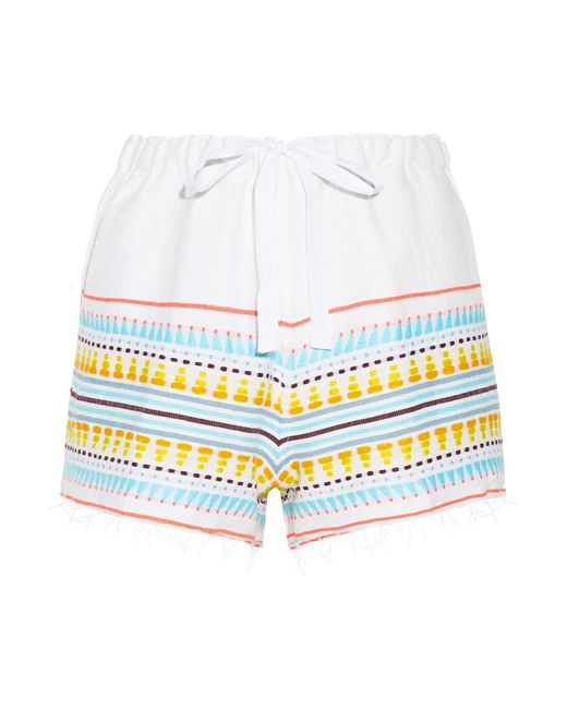 Lemlem | Blue Tabtab Striped Cotton-blend Gauze Shorts | Lyst