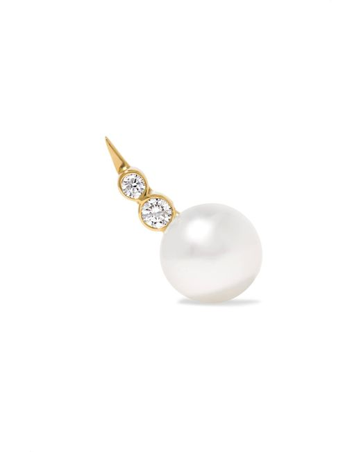 Sophie Bille Brahe - Metallic Lulu 14-karat Gold, Pearl And Diamond Earring - Lyst