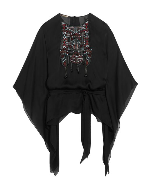 Roberto Cavalli | Black Embellished Silk-chiffon Kaftan | Lyst