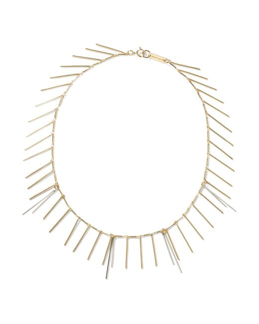 Isabel Marant | Metallic Fringed Silver And Gold-tone Necklace | Lyst