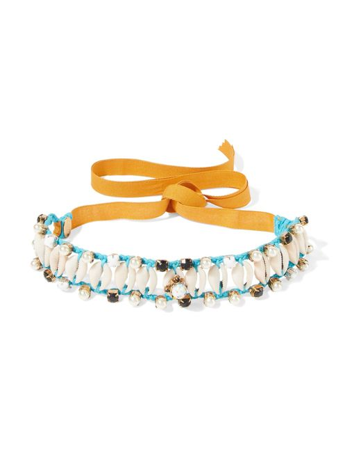 Erickson Beamon | Blue Shell And Multi-stone Choker | Lyst