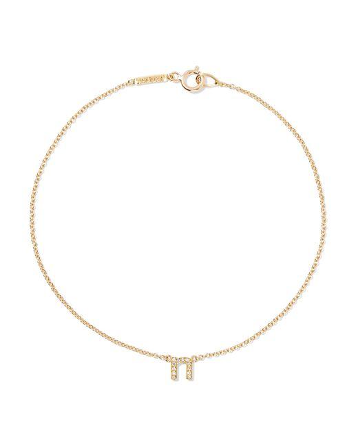 Jennifer Meyer - Metallic Letter 18-karat Gold Diamond Bracelet - Lyst