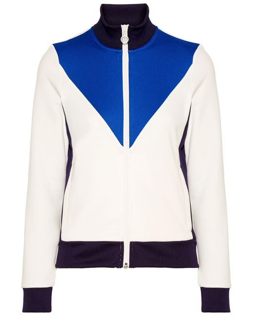 Tory Sport | White Color-block Piqué Track Jacket | Lyst