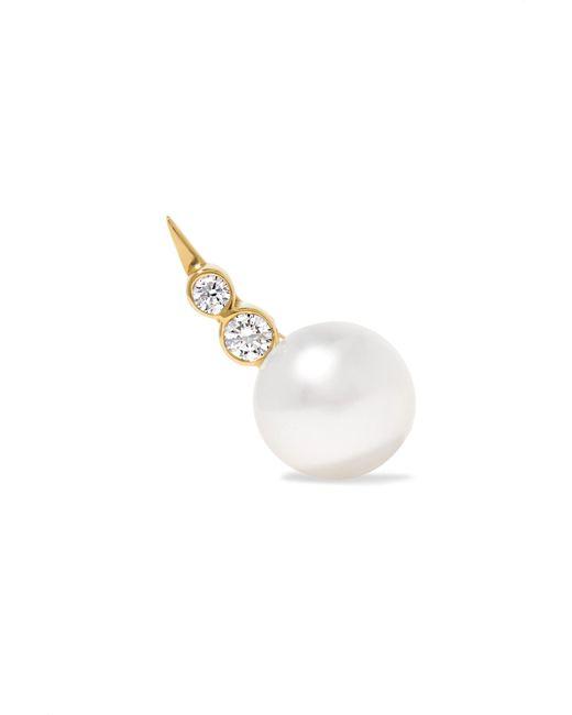 Sophie Bille Brahe - Metallic Lulu 14-karat Gold, Pearl And Diamond Earring - Lyst