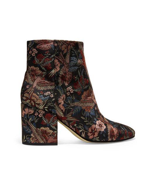 Sam Edelman   Black Taye Jacquard Ankle Boots   Lyst