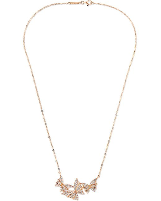 Stephen Webster - Metallic Fly By Night 18-karat Rose Gold Diamond Necklace - Lyst