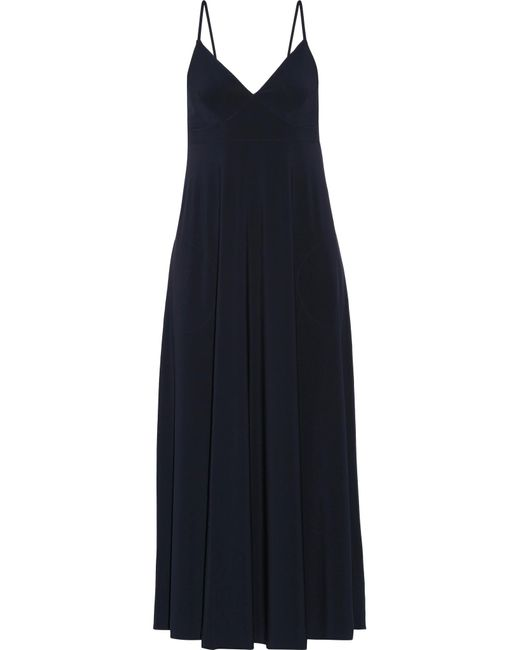 Norma Kamali | Blue Jersey Dress | Lyst