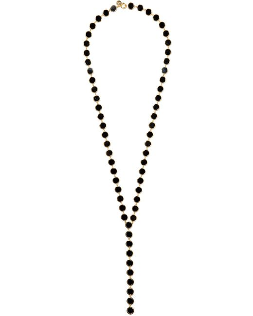 Arme De L'Amour - Black Gold-plated And Enamel Necklace - Lyst
