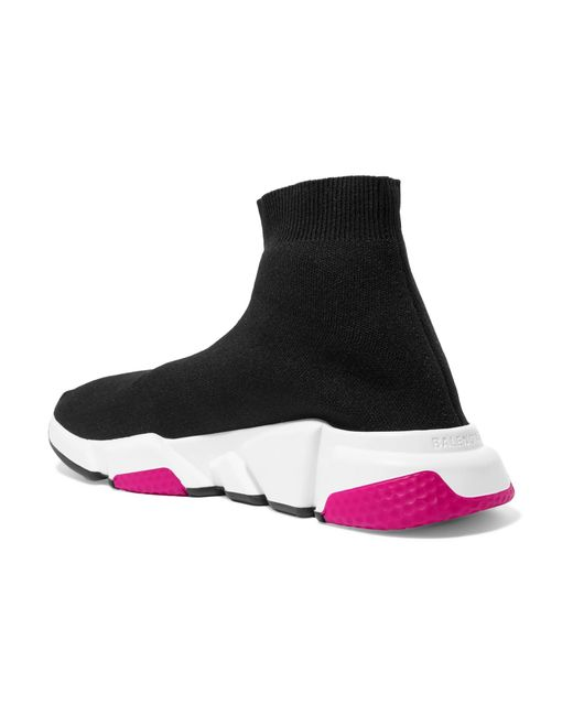 3571c90cad83 Balenciaga Speed Stretch-knit High-top Sneakers in Black - Save 25 ...