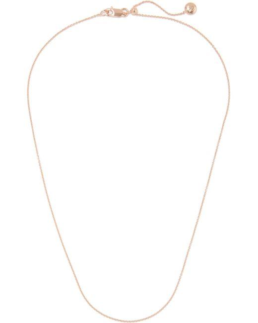 Monica Vinader | Metallic Rolo 17'' Rose Gold Vermeil Chain | Lyst