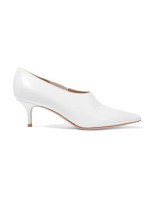 Gianvito Rossi - White 55 Leather Pumps - Lyst