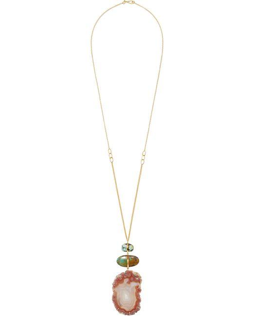 Melissa Joy Manning | Metallic 14-karat Gold, Agate And Turquoise Necklace | Lyst