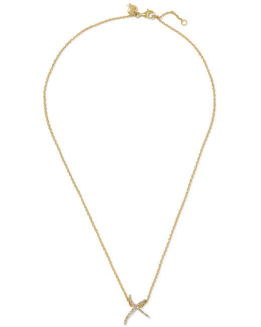 Stephen Webster   Metallic + Tracey Emin Kiss 18-karat Gold Diamond Necklace   Lyst
