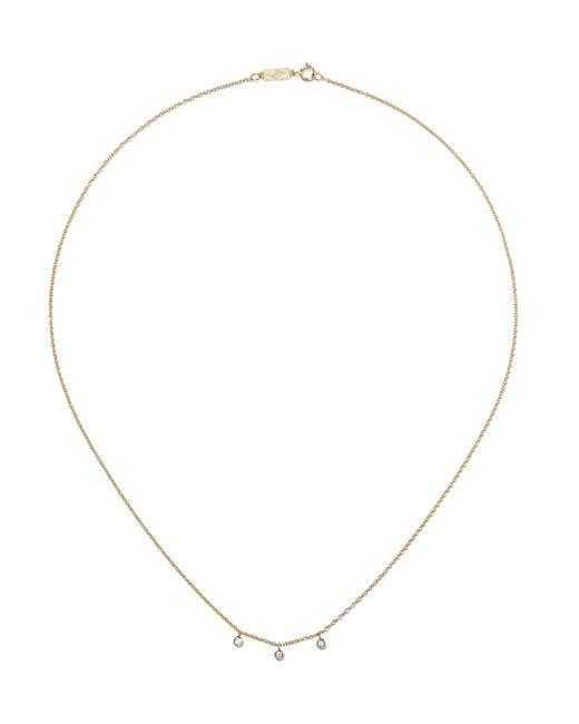 Jennifer Meyer - Metallic 18-karat Gold Diamond Necklace Gold One Size - Lyst