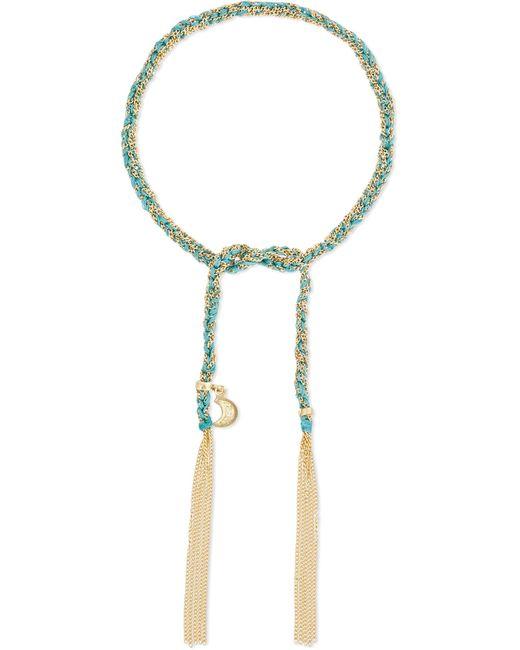 Carolina Bucci   Metallic Wisdom Lucky 18-karat Gold And Silk Bracelet   Lyst