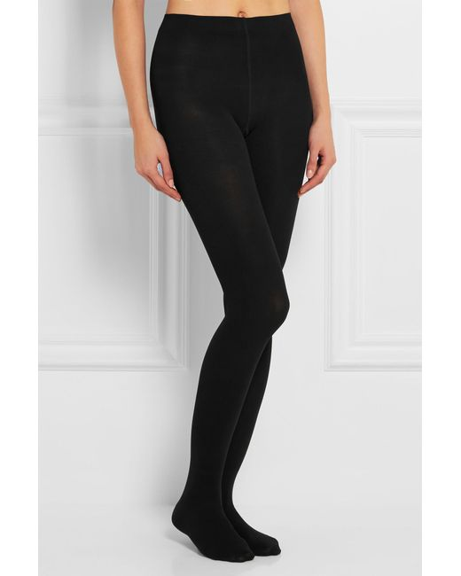 c8ab59b1f13 Falke Pure Matt 100 Denier Tights in Black - Save 4% - Lyst