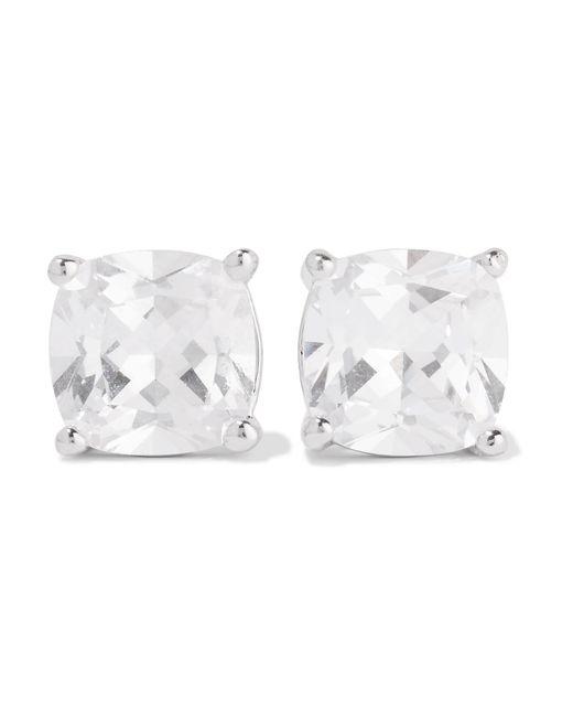 Kenneth Jay Lane | Metallic Rhodium-plated Cubic Zirconia Earrings | Lyst