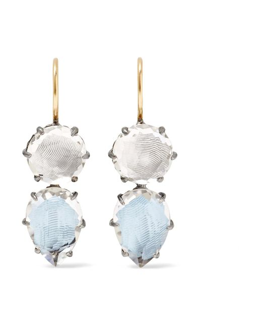 Larkspur & Hawk   Blue Caterina Rhodium-dipped Quartz Earrings   Lyst