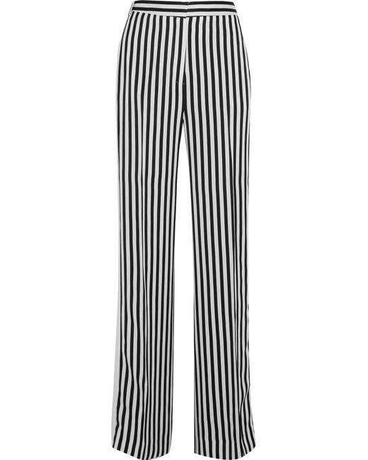 Victoria, Victoria Beckham | Black Striped Satin-twill Wide-leg Pants | Lyst
