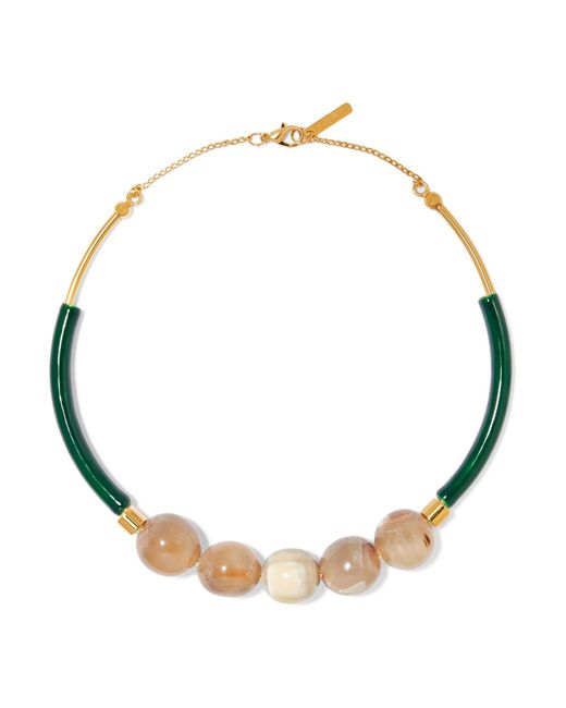 Marni | Metallic Gold-plated, Resin And Horn Necklace | Lyst
