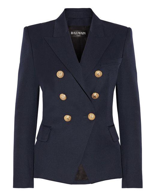 Balmain | Blue Double-Breasted Wool Jacket | Lyst