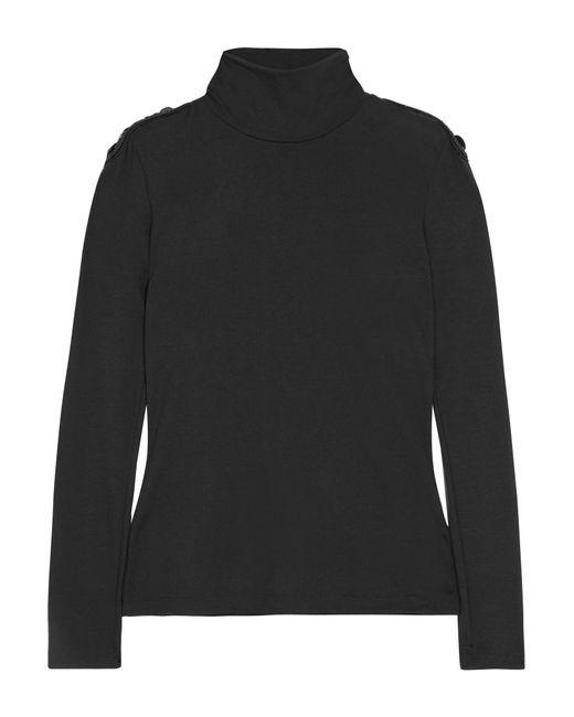 Balmain | Black Embellished Wool Turtleneck Sweater | Lyst