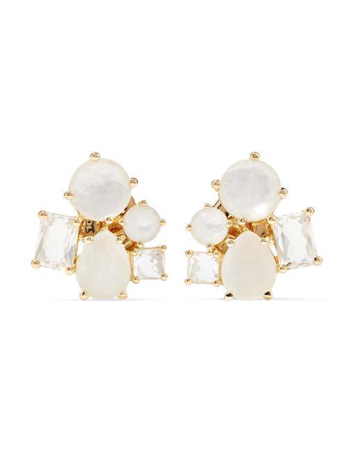 Ippolita   Metallic Rock Candy Cluster 18-karat Gold Multi-stone Earrings   Lyst