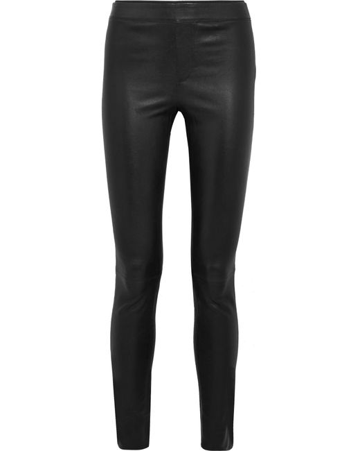 Helmut Lang   Black Stretch-leather Leggings   Lyst