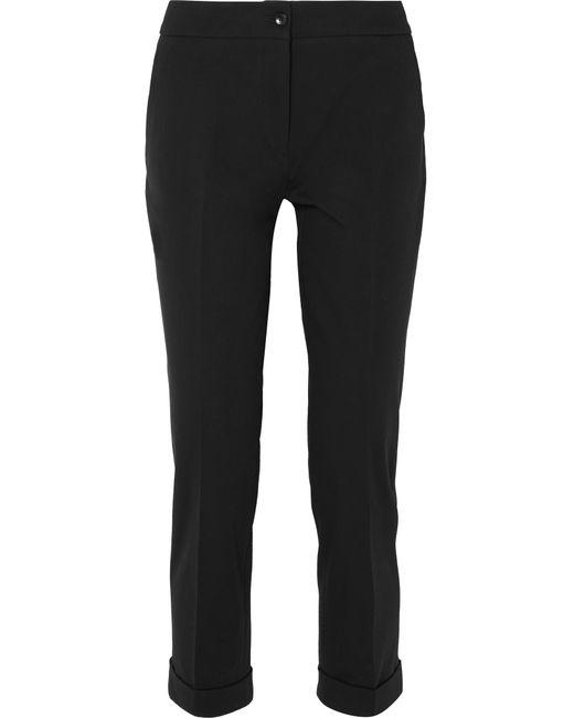 Etro - Black Stretch-cotton Twill Slim-leg Pants - Lyst