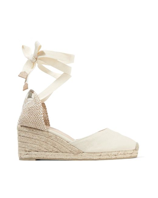Castaner - White Carina Canvas Wedge Espadrilles - Lyst