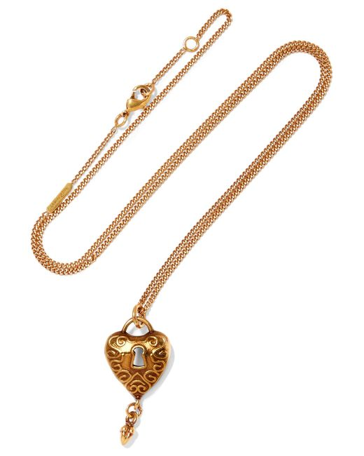 Chloé   Metallic Gold-tone Necklace   Lyst