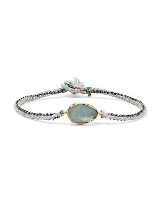 Brooke Gregson - Metallic Orbit 14-karat Gold, Sterling Silver And Aquamarine Bracelet - Lyst